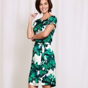 Boden Meadow Green Botanical Bird Ivy Dress Sz 10L